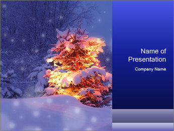Xmas winter PowerPoint Template - Slide 1