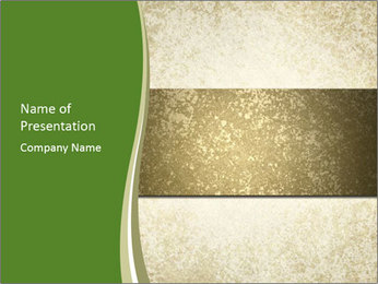 Elegant textured gold ribbon stripe PowerPoint Template