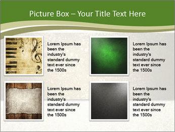 Elegant textured gold ribbon stripe PowerPoint Template - Slide 14