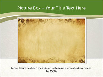 Elegant textured gold ribbon stripe PowerPoint Template - Slide 15