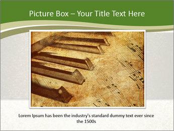 Elegant textured gold ribbon stripe PowerPoint Template - Slide 16