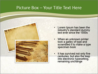 Elegant textured gold ribbon stripe PowerPoint Template - Slide 20
