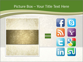 Elegant textured gold ribbon stripe PowerPoint Template - Slide 21