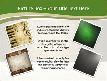 Elegant textured gold ribbon stripe PowerPoint Template - Slide 24
