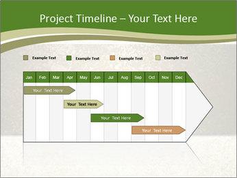 Elegant textured gold ribbon stripe PowerPoint Template - Slide 25