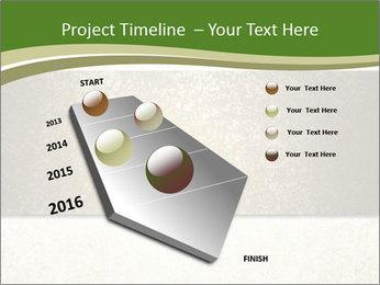 Elegant textured gold ribbon stripe PowerPoint Template - Slide 26
