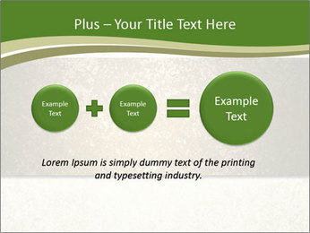 Elegant textured gold ribbon stripe PowerPoint Template - Slide 75