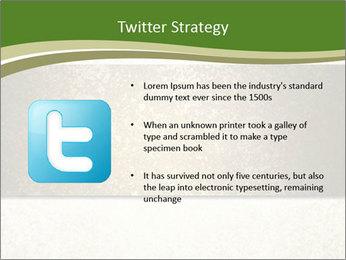 Elegant textured gold ribbon stripe PowerPoint Template - Slide 9