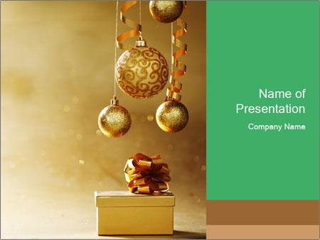 Christmas balls PowerPoint Template