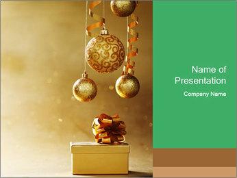 Christmas balls PowerPoint Template - Slide 1