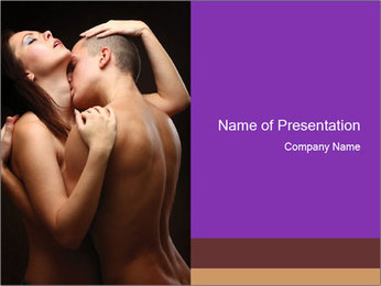 Woman and man PowerPoint Templates - Slide 1