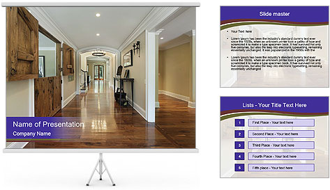 Long foyer PowerPoint Template