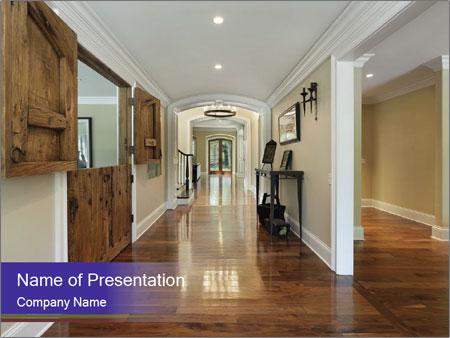 Long foyer PowerPoint Templates