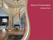 Foyer with wood trim PowerPoint Templates