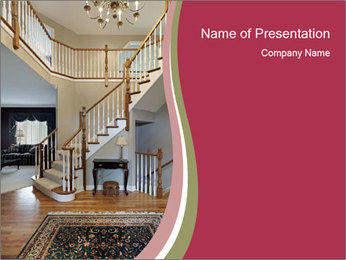 Foyer with wood trim PowerPoint Template - Slide 1
