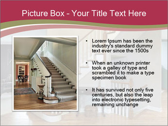 Foyer with wood trim PowerPoint Template - Slide 13