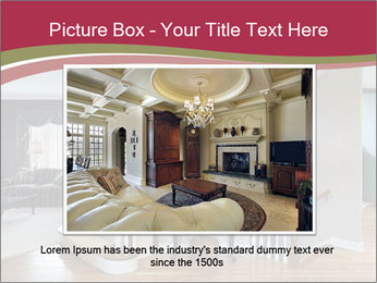 Foyer with wood trim PowerPoint Template - Slide 15