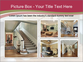 Foyer with wood trim PowerPoint Template - Slide 19