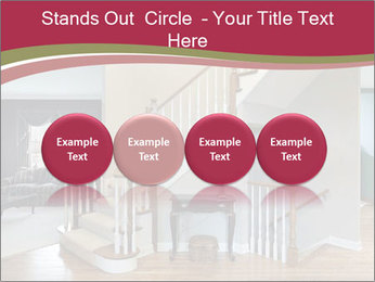 Foyer with wood trim PowerPoint Template - Slide 76