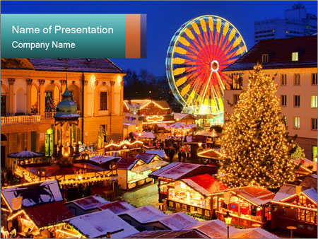 Сhristmas market PowerPoint Template