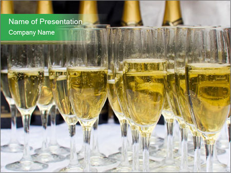 Sparkling champagne PowerPoint Templates