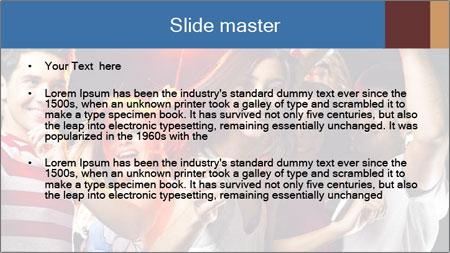 Energetic girl PowerPoint Template - Slide 2