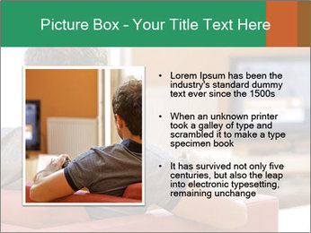Man watching television PowerPoint Template - Slide 13