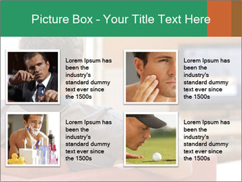 Man watching television PowerPoint Template - Slide 14