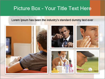 Man watching television PowerPoint Template - Slide 19