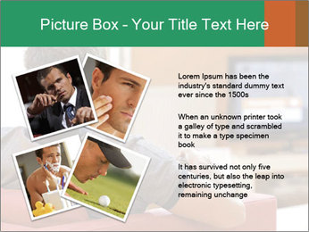 Man watching television PowerPoint Template - Slide 23