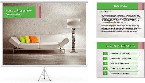 Modern interior room PowerPoint Template