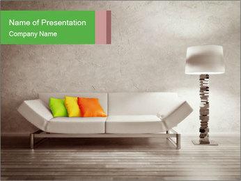 Modern interior room PowerPoint Template - Slide 1