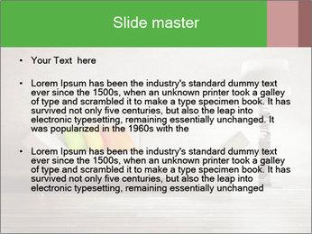 Modern interior room PowerPoint Template - Slide 2
