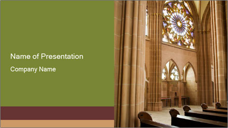 Catholic church PowerPoint Template