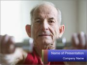 Portrait of elderly man PowerPoint Template
