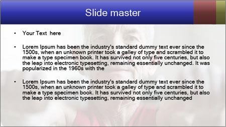 Portrait of elderly man PowerPoint Template - Slide 2