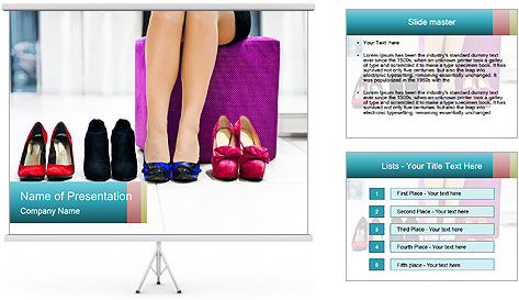 The woman in shop PowerPoint Template