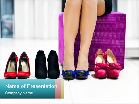 The woman in shop PowerPoint Templates