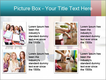 The woman in shop PowerPoint Template - Slide 14