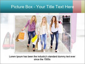The woman in shop PowerPoint Template - Slide 16