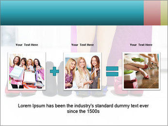 The woman in shop PowerPoint Template - Slide 22