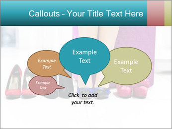 The woman in shop PowerPoint Template - Slide 73
