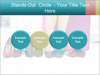 The woman in shop PowerPoint Template - Slide 76