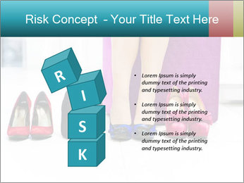 The woman in shop PowerPoint Template - Slide 81