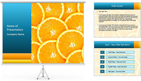 Citrus-fruit PowerPoint Template