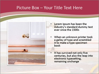 Copper pipes and pliers PowerPoint Template - Slide 13