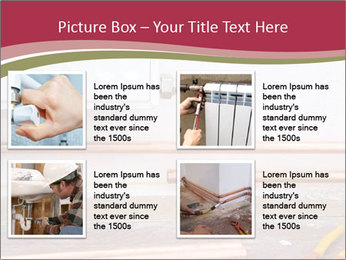 Copper pipes and pliers PowerPoint Template - Slide 14