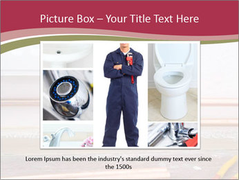 Copper pipes and pliers PowerPoint Template - Slide 16