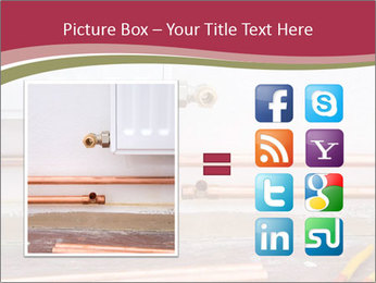 Copper pipes and pliers PowerPoint Template - Slide 21