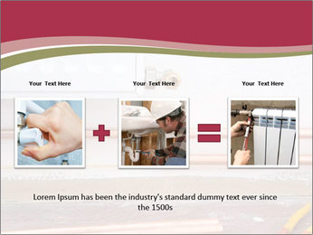 Copper pipes and pliers PowerPoint Template - Slide 22